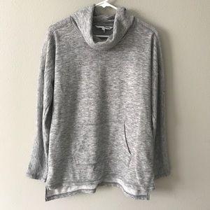 Vowel Neck Grey Sweatshirt